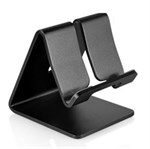 Metal stander til smartphone/tablet (Sort)