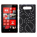 Bling Design Cover til Lumia 820 (Sort)