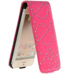 Diamond Bling Etui til iPhone 5 (Magenta)