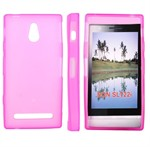 Sili-Cover til Xperia P - Simplicity (Pink)