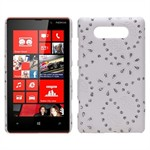 Bling Design Cover til Lumia 820 (Hvid)
