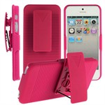 Full Body iPhone 5 cover m. klips (Magenta)