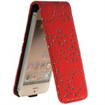 Diamond Bling Etui til iPhone 5 (Rød)