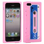 iPhone 5 Gummi kassette cover (Pink)