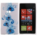Design Sili-Cover til Lumia 920 - Blue Flower