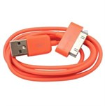 2 Meter - Datakabel til iPhone/iPod (Orange)