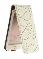 Diamond Bling Etui til iPhone 5 (Hvid)