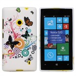Design Sili-Cover til Lumia 520 - Summer Butterflies