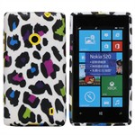 Design Sili-Cover til Lumia 520 - Leopard (Coloured)