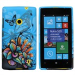 Design Sili-Cover til Lumia 520 - Ocean Butterfly