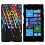 Design Sili-Cover til Lumia 520 - Star light
