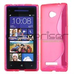 Sili-Cover til HTC 8X - S-Line (Pink)