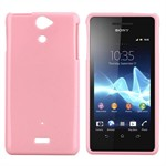 Sili-Cover til Xperia V - Simplicity (Pink)