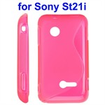 Cover fra S-Line til Xperia Tipo (Pink)