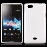 Sili-Cover til Xperia Miro - Simplicity (Hvid)