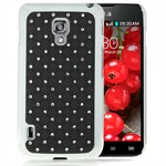 Bling Cover til Optimus L7 2 Dual (Sort)