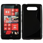 Cover fra S-Line til Lumia 820 (Sort)