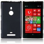 Sili-Cover til Lumia 925 - Simplicity (Sort)