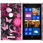 Design Cover til Lumia 925 - Pink Butterflies