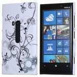 Design Cover til Lumia 920 - Grey Blossom (Bling)