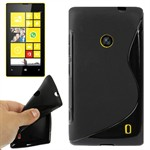 Cover fra S-Line til Lumia 520 (Sort)