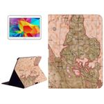 Design Case til Tab 4 10.1 - World Map (Beige)