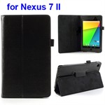 Deluxe Case til Nexus 7 2 - Læder (Sort)