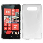 Cover fra S-Line til Lumia 820 (Transparent)