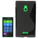 Cover fra S-Line til Nokia XL (Sort)