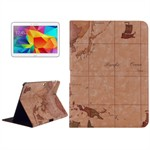 Design Case til Tab 4 10.1 - World Map (Creme)