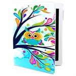 Fan etui iPad (Owl in flowers)