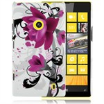 Design Cover til Lumia 520 - Purple Tulipan