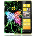 Design Cover til Lumia 520 - Colourful Butterfly