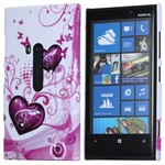 Design Cover til Lumia 920 - Hearts (Bling)